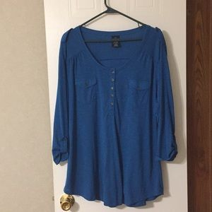 Plus size 18-20 used blouse. Teal with 3/4 sleeves